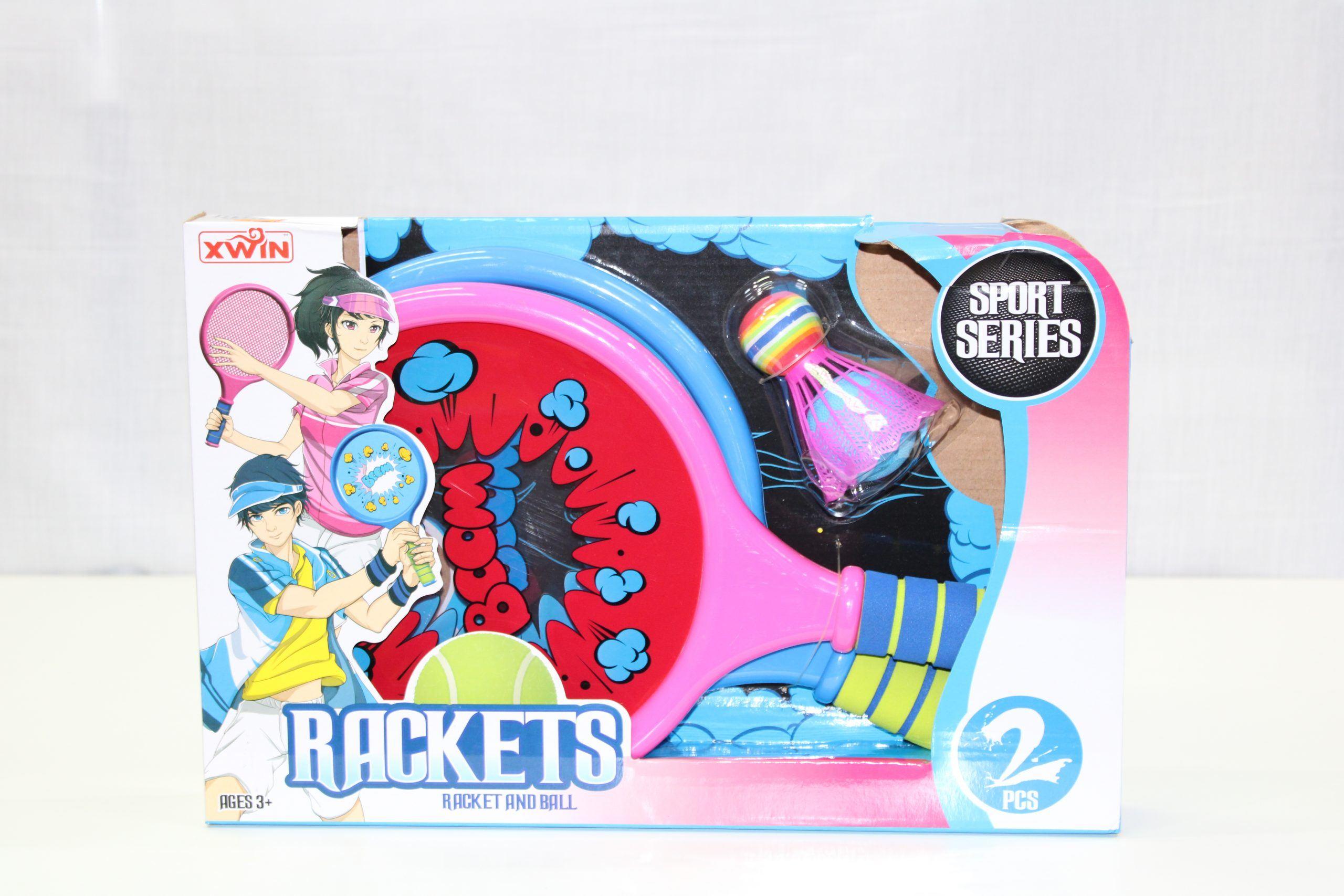 Racket and Ball Set Pink/Blue