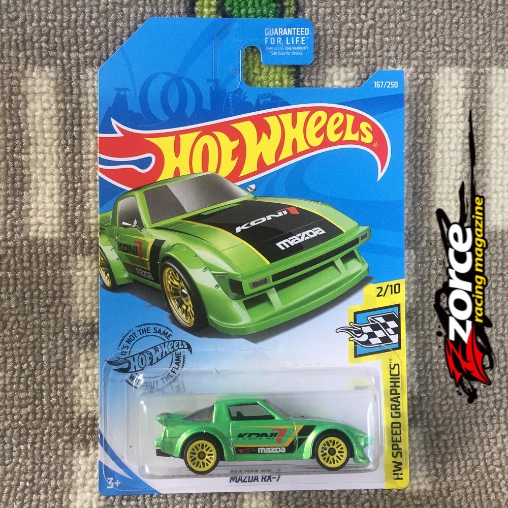 Hot Wheels Mazda RX-7 Green